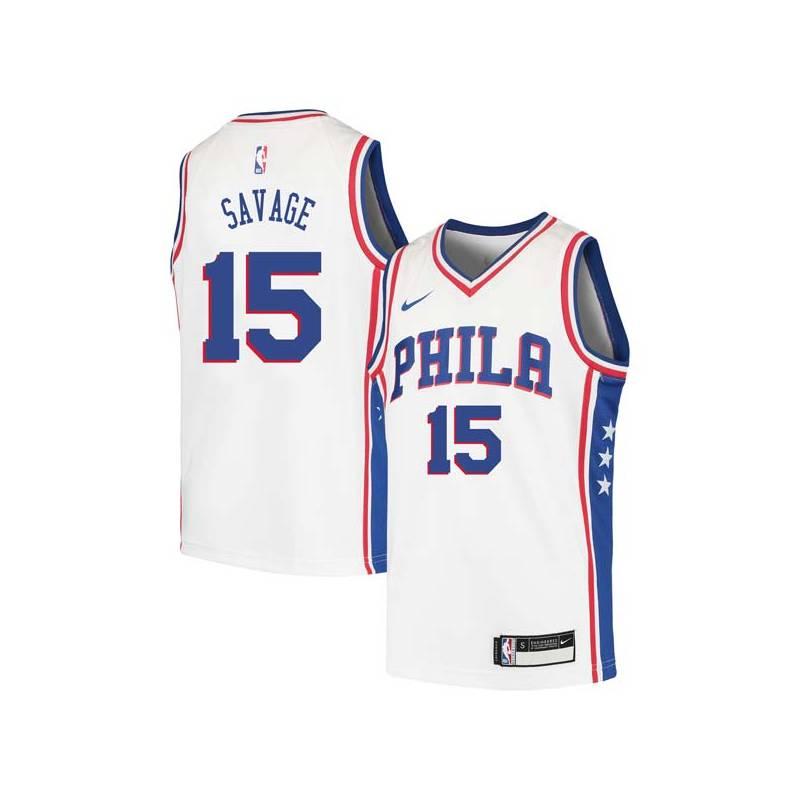 Don Savage Twill Basketball Jersey -76ers #15 Savage Twill Jerseys, FREE SHIPPING