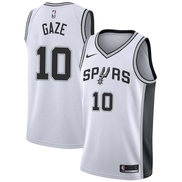 Andrew Gaze Spurs #10 Twill Jerseys free shipping