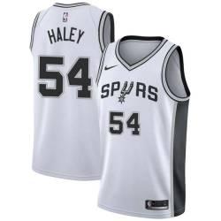 Jack Haley Twill Basketball Jersey -Spurs #54 Haley Twill Jerseys, FREE SHIPPING