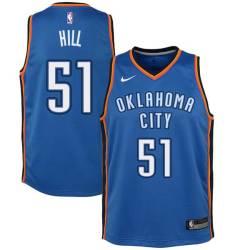 Steven Hill Twill Basketball Jersey -Thunder #51 Hill Twill Jerseys, FREE SHIPPING