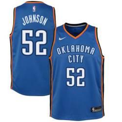 George Johnson Twill Basketball Jersey -Thunder #52 Johnson Twill Jerseys, FREE SHIPPING