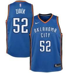 George Zidek Twill Basketball Jersey -Thunder #52 Zidek Twill Jerseys, FREE SHIPPING