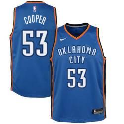 Joe Cooper Twill Basketball Jersey -Thunder #53 Cooper Twill Jerseys, FREE SHIPPING