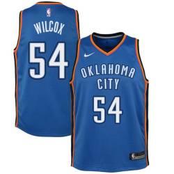 Chris Wilcox Twill Basketball Jersey -Thunder #54 Wilcox Twill Jerseys, FREE SHIPPING