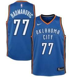 Vladimir Radmanovic Twill Basketball Jersey -Thunder #77 Radmanovic Twill Jerseys, FREE SHIPPING