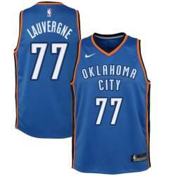Joffrey Lauvergne Twill Basketball Jersey -Thunder #77 Lauvergne Twill Jerseys, FREE SHIPPING