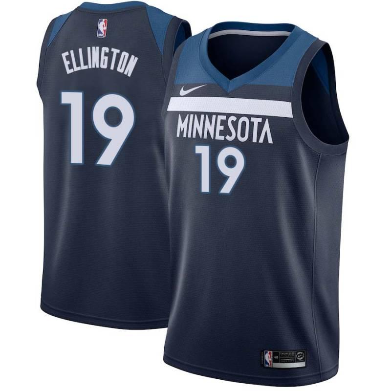 Wayne Ellington Timberwolves 19 Twill Jerseys Free Shipping