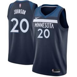 Chris Johnson Twill Basketball Jersey -Timberwolves #20 Johnson Twill Jerseys, FREE SHIPPING