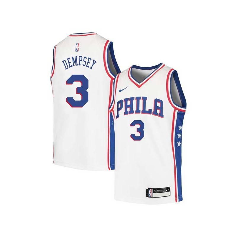 George Dempsey Twill Basketball Jersey -76ers #3 Dempsey Twill Jerseys, FREE SHIPPING