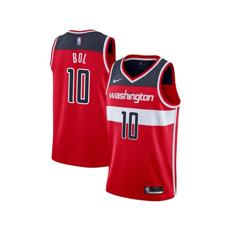 Manute Bol Twill Basketball Jersey -Wizards  10 Bol Twill Jerseys b1661041c