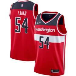 James Lang Twill Basketball Jersey -Wizards #54 Lang Twill Jerseys, FREE SHIPPING
