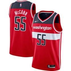 Bob McCann Twill Basketball Jersey -Wizards #55 McCann Twill Jerseys, FREE SHIPPING