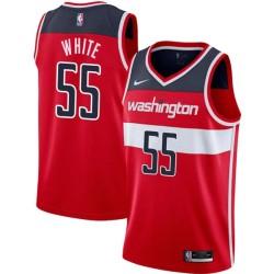 Jahidi White Twill Basketball Jersey -Wizards #55 White Twill Jerseys, FREE SHIPPING