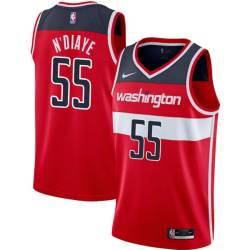 Hamady N'Diaye Twill Basketball Jersey -Wizards #55 N'Diaye Twill Jerseys, FREE SHIPPING
