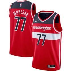 Gheorghe Muresan Twill Basketball Jersey -Wizards #77 Muresan Twill Jerseys, FREE SHIPPING