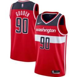 Drew Gooden Twill Basketball Jersey -Wizards #90 Gooden Twill Jerseys, FREE SHIPPING