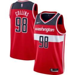 Jason Collins Twill Basketball Jersey -Wizards #98 Collins Twill Jerseys, FREE SHIPPING