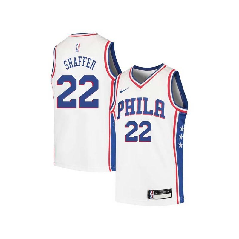 Lee Shaffer Twill Basketball Jersey -76ers #22 Shaffer Twill Jerseys, FREE SHIPPING