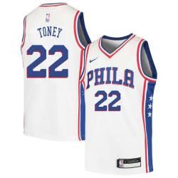 Andrew Toney Twill Basketball Jersey -76ers #22 Toney Twill Jerseys, FREE SHIPPING