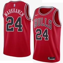 Chicago #24 Lauri Markkanen 2017 Draft Twill Basketball Jersey, Markkanen Bulls Twill Jersey