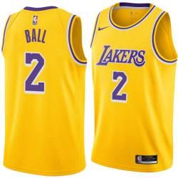 Los Angeles #2 Lonzo Ball 2017 Draft Twill Basketball Jersey, Ball Lakers Twill Jersey