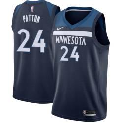 Minnesota #24 Justin Patton 2017 Draft Twill Basketball Jersey, Patton Timberwolves Twill Jersey