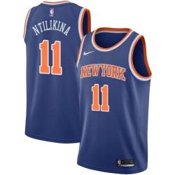 New York #11 Frank Ntilikina 2017 Draft Twill Basketball Jersey, Ntilikina Knicks Twill Jersey