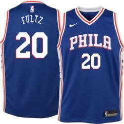 Philadelphia #20 Markelle Fultz 2017 Draft Twill Basketball Jersey, Fultz 76ers Twill Jersey