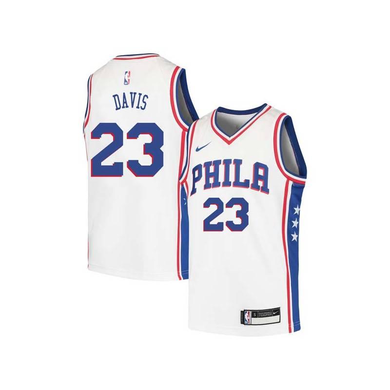 Josh Davis Twill Basketball Jersey -76ers #23 Davis Twill Jerseys, FREE SHIPPING