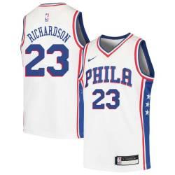 Jason Richardson Twill Basketball Jersey -76ers #23 Richardson Twill Jerseys, FREE SHIPPING