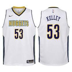 Nuggets #53 Rich Kelley| Cliff Levingston| Jerome Allen Twill Basketball Jersey