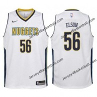 Nuggets #56 Francisco Elson Twill Basketball Jersey
