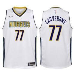 Nuggets #77 Joffrey Lauvergne Twill Basketball Jersey