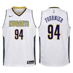 Nuggets #94 Evan Fournier Twill Basketball Jersey
