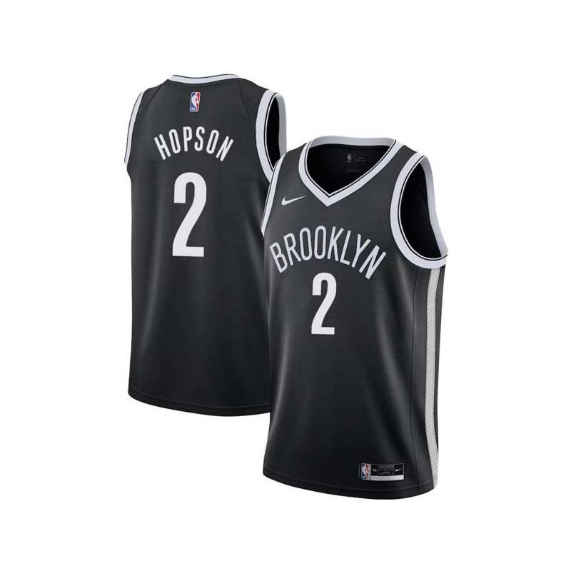 Dennis Hopson Nets #2 Twill Basketball Jersey FREE SHIPPING