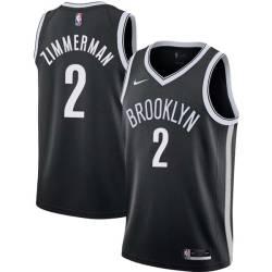 Derrick Zimmerman Nets #2 Twill Basketball Jersey FREE SHIPPING
