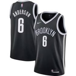 Alan Anderson Nets #6 Twill Basketball Jersey FREE SHIPPING