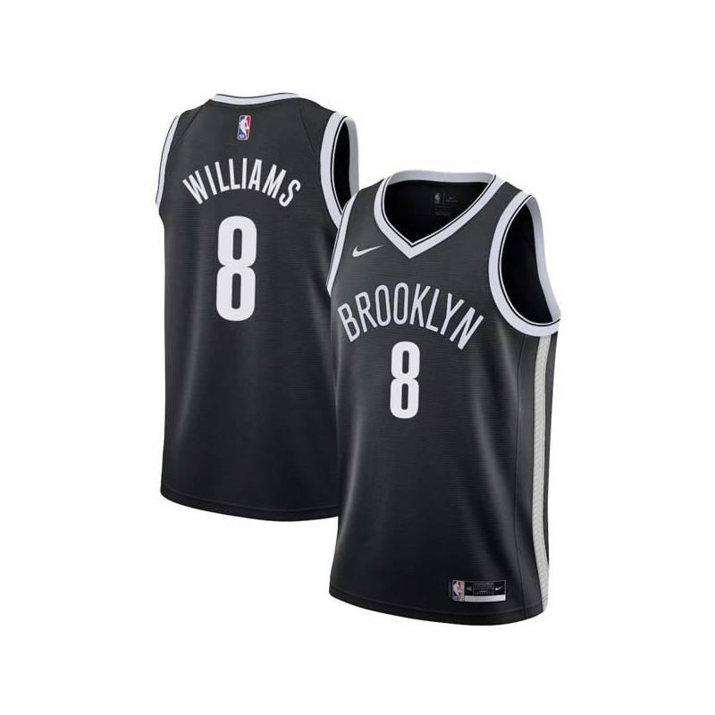 Brooklyn 8 Deron Williams Nets Twill Basketball Jersey Free Shipping d3f30685c
