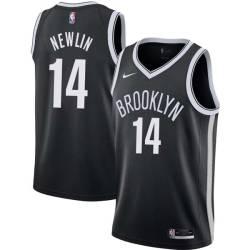 Mike Newlin Nets #14 Twill Basketball Jersey FREE SHIPPING