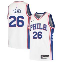 Manny Leaks Twill Basketball Jersey -76ers #26 Leaks Twill Jerseys, FREE SHIPPING