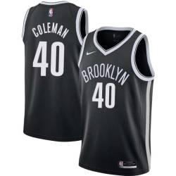 Ben Coleman Nets #40 Twill Basketball Jersey FREE SHIPPING