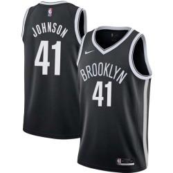 Stew Johnson Nets #41 Twill Basketball Jersey FREE SHIPPING