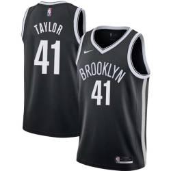 Tyshawn Taylor Nets #41 Twill Basketball Jersey FREE SHIPPING
