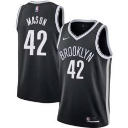 Anthony Mason Nets #42 Twill Basketball Jersey FREE SHIPPING