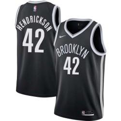 Mark Hendrickson Nets #42 Twill Basketball Jersey FREE SHIPPING