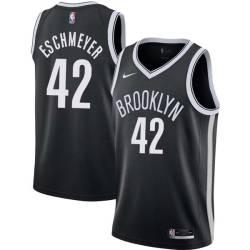 Evan Eschmeyer Nets #42 Twill Basketball Jersey FREE SHIPPING