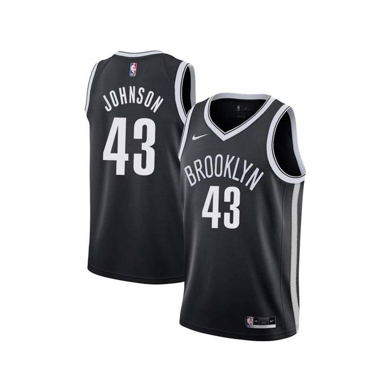 Mickey Johnson Nets #43 Twill Basketball Jersey FREE SHIPPING