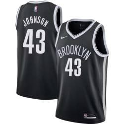 Linton Johnson Nets #43 Twill Basketball Jersey FREE SHIPPING