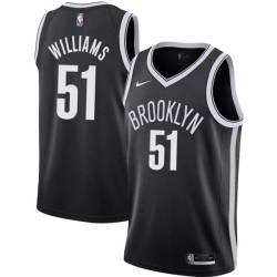 Sean Williams Nets #51 Twill Basketball Jersey FREE SHIPPING