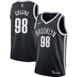 Jason Collins Nets #98 Twill Basketball Jersey FREE SHIPPING